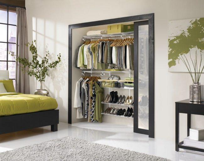 Модульная система хранения вещей для спальни