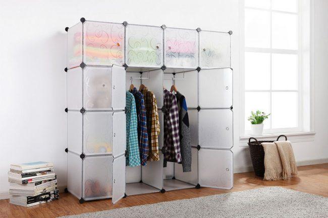 Компактная модульная система хранения вещей для современного интерьера