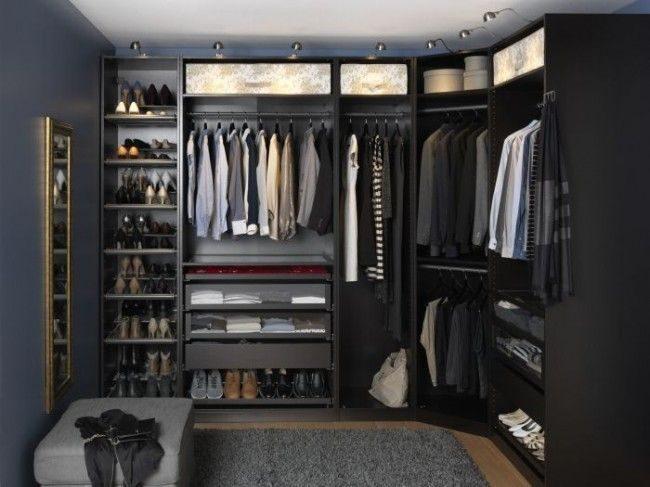 Комбинированная модульная система хранения женской и мужской одежды и обуви