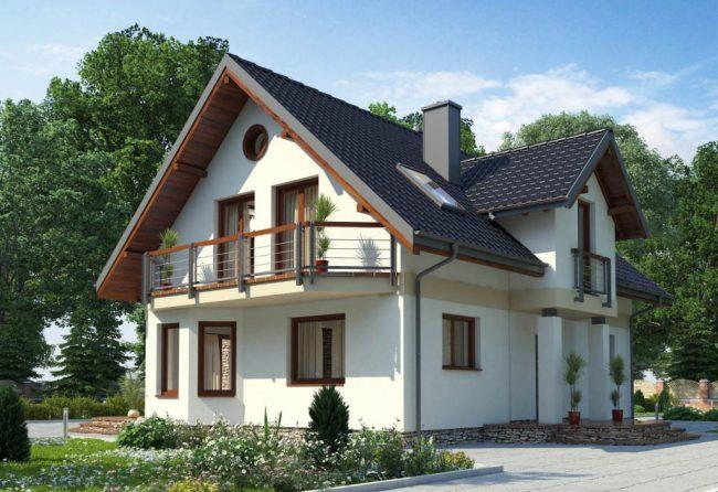 дом 8 на 8 планировка: двухэтажный проект красивого дома в классическом стиле
