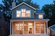 Фото 9 Планировка двухэтажного дома 8 на 8: варианты возведения и 85 лучших готовых проектов