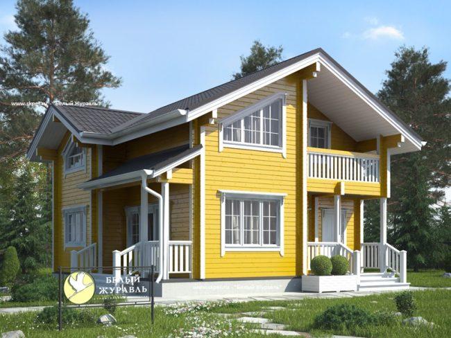 Проект комфортного двухэтажного дома 8 на 8