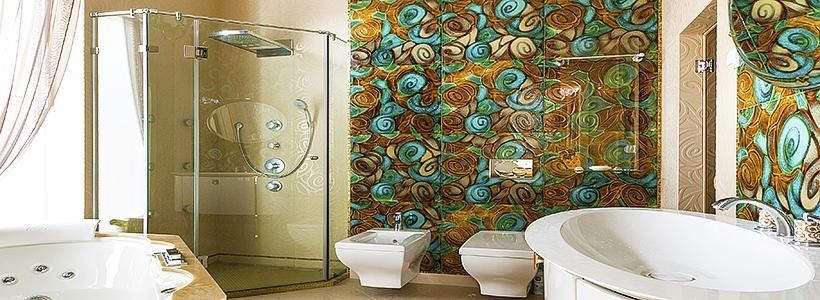 Панно из плитки в ванную: выбор настоящих эстетов и 80 утонченных интерьерных реализаций