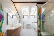 Фото 2 Панно из плитки в ванную: выбор настоящих эстетов и 80 утонченных интерьерных реализаций