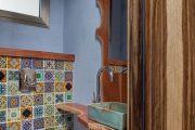 Фото 7 Панно из плитки в ванную: выбор настоящих эстетов и 80 утонченных интерьерных реализаций