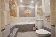 Фото 10 Панно из плитки в ванную: выбор настоящих эстетов и 80 утонченных интерьерных реализаций