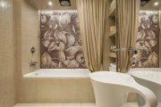 Фото 5 Панно из плитки в ванную: выбор настоящих эстетов и 80 утонченных интерьерных реализаций