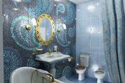 Фото 16 Панно из плитки в ванную: выбор настоящих эстетов и 80 утонченных интерьерных реализаций