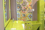 Фото 17 Панно из плитки в ванную: выбор настоящих эстетов и 80 утонченных интерьерных реализаций