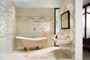 Фото 18 Панно из плитки в ванную: выбор настоящих эстетов и 80 утонченных интерьерных реализаций