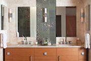 Фото 19 Панно из плитки в ванную: выбор настоящих эстетов и 80 утонченных интерьерных реализаций