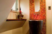 Фото 21 Панно из плитки в ванную: выбор настоящих эстетов и 80 утонченных интерьерных реализаций