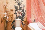 Фото 28 Панно из плитки в ванную: выбор настоящих эстетов и 80 утонченных интерьерных реализаций