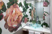 Фото 3 Панно из плитки в ванную: выбор настоящих эстетов и 80 утонченных интерьерных реализаций