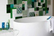 Фото 29 Панно из плитки в ванную: выбор настоящих эстетов и 80 утонченных интерьерных реализаций