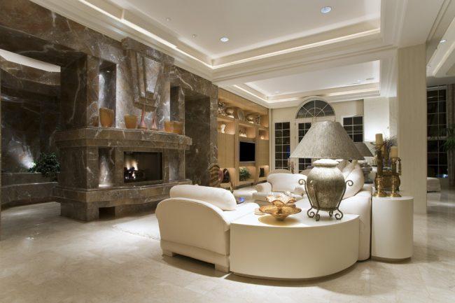 При создании парящего потолка немаловажную роль играет используемый материал