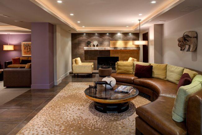 Классическая гостиная в пастельных тонах