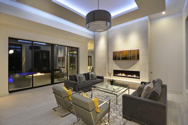 Современный стиль в интерьере гостиной