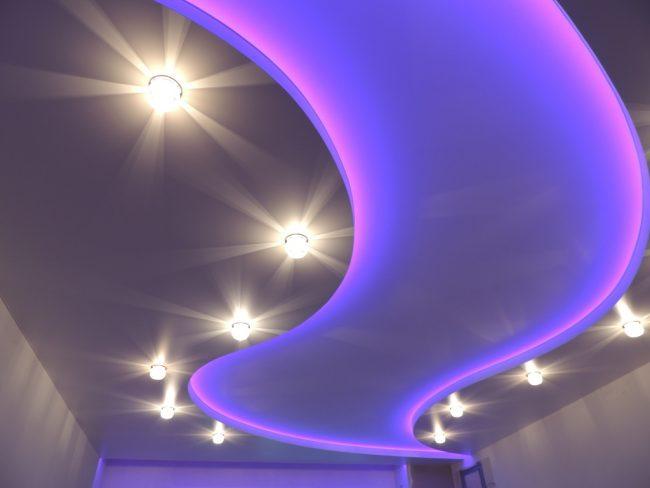 Парящий натяжной потолок недорогой и красивый вариант отделки вашего потолка