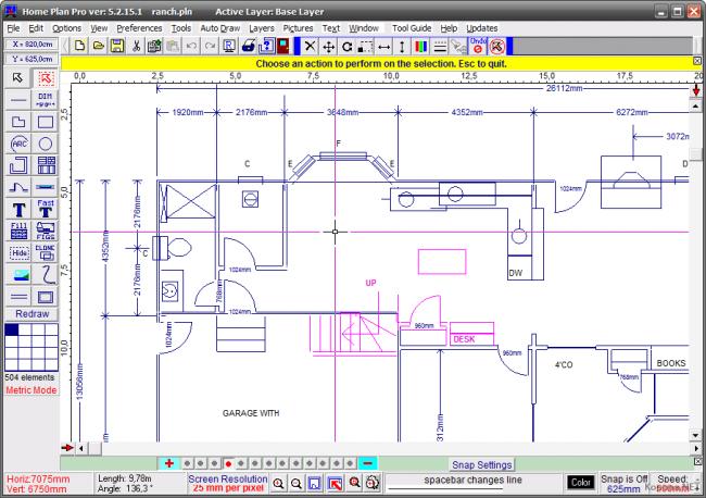 Интерфейс Home Plan Pro