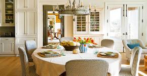 Скатерть на стол для кухни: эффектный аксессуар и 80 эстетически совершенных решений для дома фото