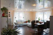 Фото 9 Тканевые натяжные потолки: особенности монтажа и 75 стильных решений для дома