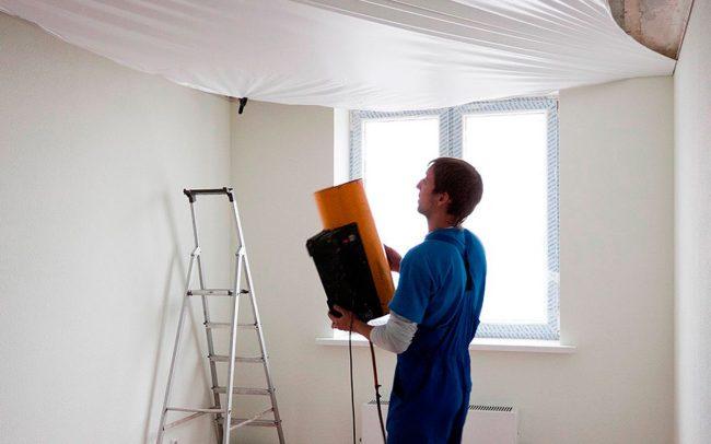 тканевые натяжные потолки: отзывы, фото и монтаж натяжного потолка