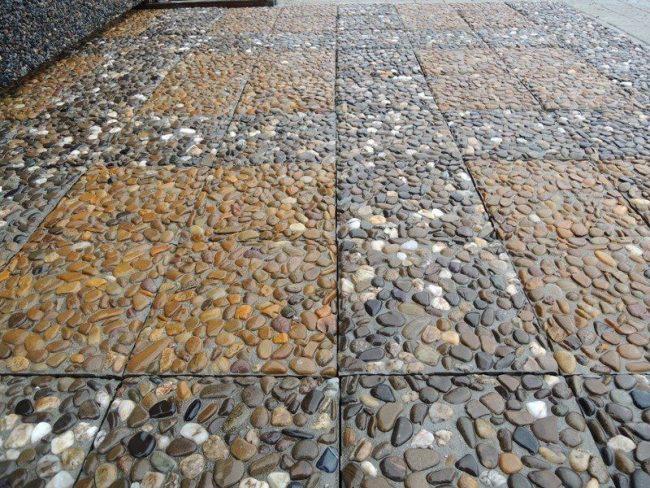Тротуарная плитка с мраморной крошкой