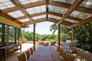 Фото 6 Пристроенная к дому веранда из поликарбоната: особенности возведение и 70+ стильных и надежных конструкций