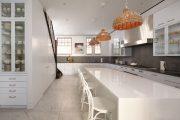 Фото 27 Белые глянцевые кухни: секреты гармоничного оформления и 80+ фото вдохновляющих интерьеров