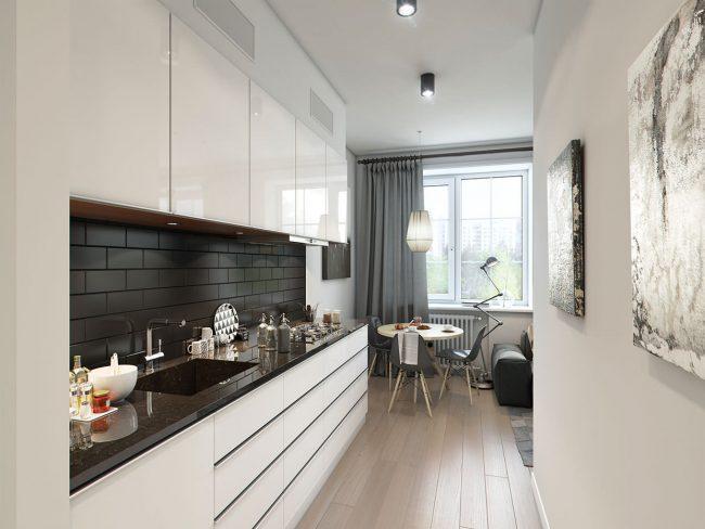 Кухни белый глянец дизайн