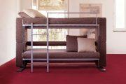 Фото 21 Диван-трансформер в двухъярусную кровать: 70 максимально удобных и практичных идей для вашей квартиры