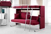 Фото 29 Диван-трансформер в двухъярусную кровать: 70 максимально удобных и практичных идей для вашей квартиры