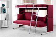 Фото 35 Диван-трансформер в двухъярусную кровать: 70 максимально удобных и практичных идей для вашей квартиры