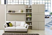 Фото 45 Диван-трансформер в двухъярусную кровать: 70 максимально удобных и практичных идей для вашей квартиры