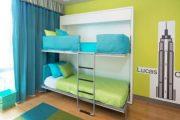 Фото 47 Диван-трансформер в двухъярусную кровать: 70 максимально удобных и практичных идей для вашей квартиры