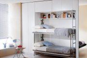 Фото 48 Диван-трансформер в двухъярусную кровать: 70 максимально удобных и практичных идей для вашей квартиры