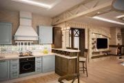 Фото 1 Дизайн совмещенной кухни-гостиной с барной стойкой: выбор планировки, стили и 70+ идей для вдохновения