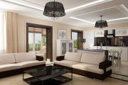 Фото 20 Дизайн совмещенной кухни-гостиной с барной стойкой: 75 мультифункциональных и современных интерьеров