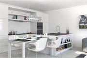Фото 27 Дизайн совмещенной кухни-гостиной с барной стойкой: 75 мультифункциональных и современных интерьеров