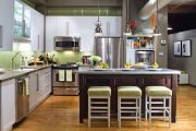 Фото 32 Дизайн совмещенной кухни-гостиной с барной стойкой: 75 мультифункциональных и современных интерьеров