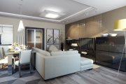 Фото 10 Дизайн совмещенной кухни-гостиной с барной стойкой: 75 мультифункциональных и современных интерьеров