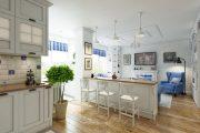 Фото 43 Дизайн совмещенной кухни-гостиной с барной стойкой: 75 мультифункциональных и современных интерьеров