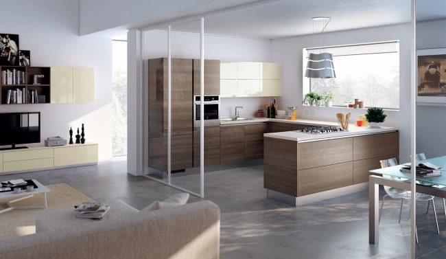 Каждый элемент на кухне с открытой планировкой важен, так как создает облик всей квартиры
