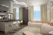 Фото 46 Дизайн совмещенной кухни-гостиной с барной стойкой: 75 мультифункциональных и современных интерьеров