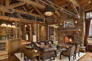 Фото 58 Интерьер деревенского дома: стилистические тонкости оформления и 85+ уютных и комфортных вариантов