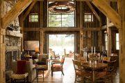Фото 10 Интерьер деревенского дома: стилистические тонкости оформления и 85+ уютных и комфортных вариантов
