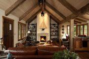 Фото 12 Интерьер деревенского дома: стилистические тонкости оформления и 85+ уютных и комфортных вариантов