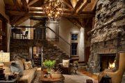 Фото 28 Интерьер деревенского дома: стилистические тонкости оформления и 85+ уютных и комфортных вариантов