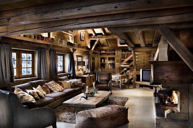 Деревенский стиль в интерьере современного загородного дома